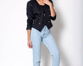 30% off SPRING SALE The Vintage Lux Classic Black Blazer