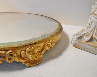 Antique Victorian Plateau Mirror Display Vanity Beveled