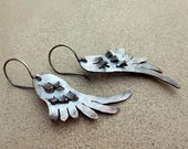 Mystical Angel Wing Earrings, Bohemian, Tribal, Light Weight, Sterling Silver Earwire