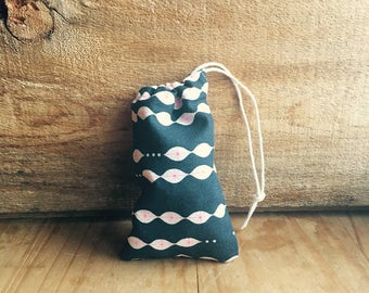 Mini Drawstring Pouch- Reusable Gift Bag - Jewelry Pouch - Gift Card Bag