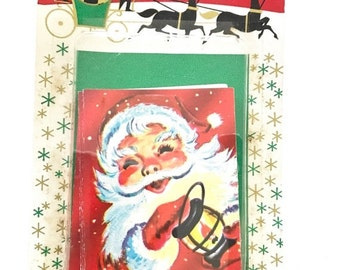 SALE 30% OFF CHRISTMAS Vintage Santa Claus Christmas Cards Dennison Mint in Package