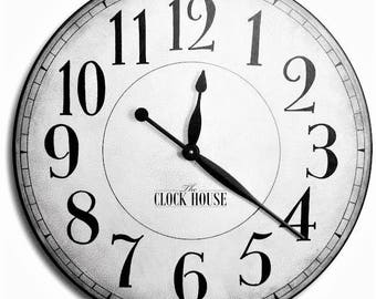 FAMILY HEIRLOOM Clock 36in CAMBRIDGE Arabic-Large Wall Clock-Oversized--Wedding Gift-Free Inscription-Jennifer Braddy