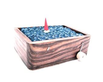 kinetic sailboat art, automaton, small wooden box, nautical decor, beach art, ocean decor, man cave decor