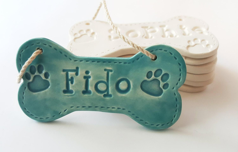Details Ceramic Dog Bone Ornament Personalized