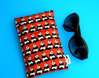 NEW SALE Roomy Sunglasses Case in a Japanese Design of Pandas
