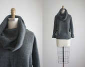 CLEARANCE charcoal cowl sweater