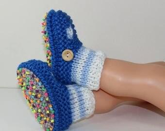 50% OFF SALE Instant Digital File pdf download knitting pattern Toddler Stripe Sock and T bar Sandal Slippers knitting pattern
