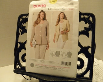 Burda Pattern Offenburg, Germany 6782 Jacket  pattern  Size Eur 44-58 US 18-32 2015
