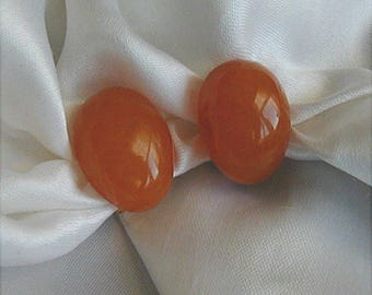 Vintage Butterscotch Lucite Clip Earrings