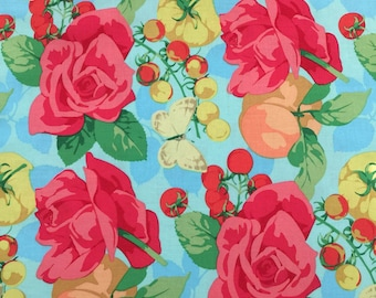 SUMMER by Westminster Fibers - PWMN092 - Martha Negley - large rose print - quilt fabric - Rowan - by the yard - cut from bolt