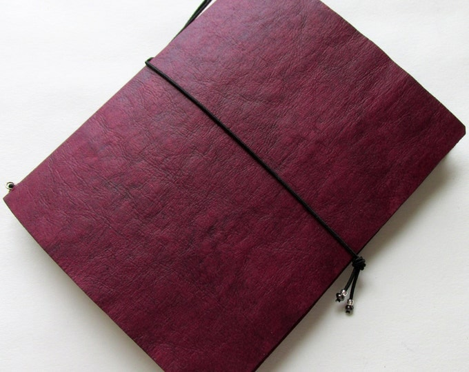 Junk journal mini collage paper notebook mini travellers notebook style fauxdori red cranberry