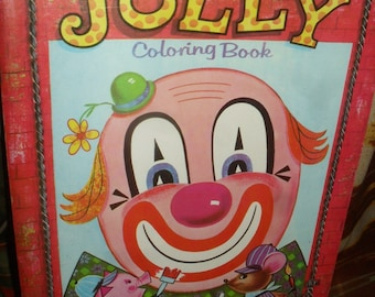 Vintage - Jolly Coloring Book - PlayMore INc.. - 1960s - unused, new
