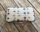 Designer Travel Wipes Case | With or Without Diaper Strap | Multi-Colored Arrows | Stylish