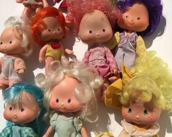 Vintage Strawberry Shortcake Doll Lot 12 Dolls