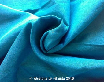 Vibrant Teal Blue Silk Dupioni Fabric, Bridesmaid Fabric By The Yard, Indian Silk Fabric, Blue Green Silk Fabric, Indian Fabric, Blue Silk