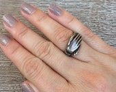 Vintage Fede Ring Silver Hand Ring
