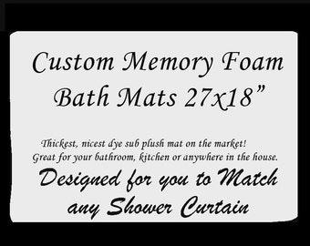"""Custom Memory Foam Bath Mat -Plush Memory Foam, 27x18"""""""