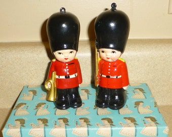 Adorable Vintage Christmas Ornament Soldier Buckingham Palace Guard Ornaments Wolin Japan Christmas