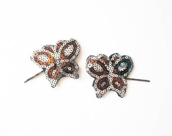 90s Hair Barretts 1990s Butterfly Bobby Pins Glitter Goth Kinderwhore Soft Grunge Aesthetic Sequin Head Jewelry Accessories Kawaii Babydoll