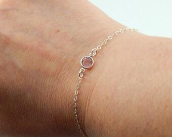 Birthstone Bracelet,June Birthstone Bracelet,Dainty Layering Bracelet,Minimal Bracelet,Mothers Day,Mothers Bracelet