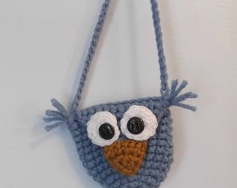 Owl Purse Necklace - Change or Key Purse - ready to ship