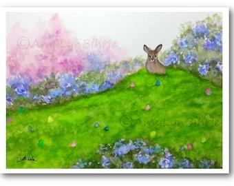 Wildlife Wonders Rabbit - Finding the Easter Eggs - Art Prints by Bihrle wd240