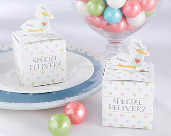Special Delivery Stork Favor Box (SET OF 24) Baby shower, Host gift, Sweet table, reception decor bridal shower