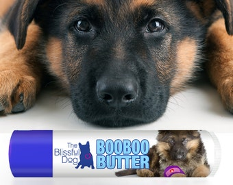 German Shepherd Boo Boo Butter Handcrafted All Natural Balm for Your Dog's Itchy Skin Irritations & Random Discomforts .15 oz Tube