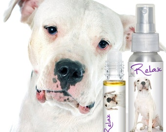 Dogo Argentino RELAX Dog Aromatherapy for Dogs Scared of Thunder, Fireworks, Being Alone + Handcrafted Using All Natural Essential Oils