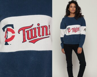 Minnesota Twins Shirt 80s Sweatshirt Baseball WORLD SERIES 1987 Retro Sports Baggy Pullover Jumper Grunge Vintage 1980s Print Medium