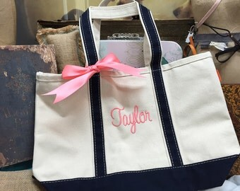 Personalized, Monogrammed Canvas Tote Bags, Bridesmaid Gift, Set of 15
