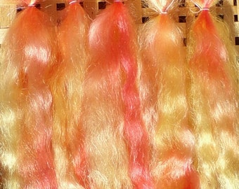 Combed Mohair Doll Hair 0.2 of an ounce 8-10 inches long Sunset