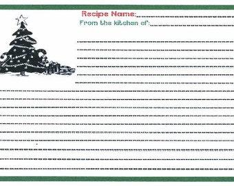 Christmas Tree Recipe Cards ~ R43