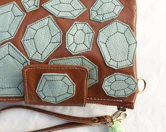 womens wallet embellished wallet travel wallet credit card wallet carryall green fluorite wallet cyber money wallet iphone 7 wallet gift