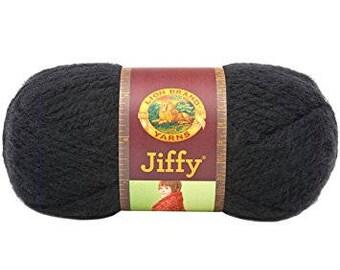 Lion Brand Jiffy Yarn - Black