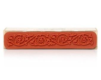 Wooden Rubber Stamp Floral Border B33157