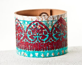 Turquoise Bracelet Jewelry, Turquoise Cuffs Wristbands, Red & Turquoise