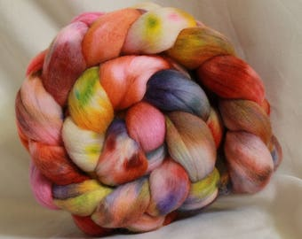 Hand painted/dyed fine merino (4.1 oz- 117 grams) #153