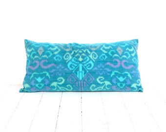 Made to Order, 12 x 24, Ikat, Pillow, Cushion, Cotton