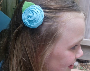 Adorable Rosette hairclips- YOU PICK any 3 colors...