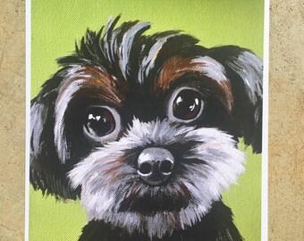 Spring Clearance sale Print of big eyed puppy dog fluffy dog
