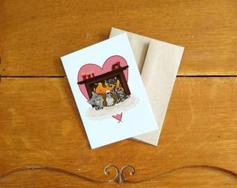 Valentine's Day Card-Dudette/Carte de St-Valentin-Madame Chat