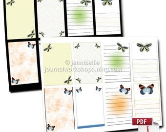 Butterfly Journal Spots/Notelets Digital Download Set