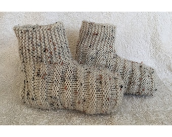 Ribbed Adult Bootie Slippers - Ready to Ship with FREE Shipping - Women's Size 8-9