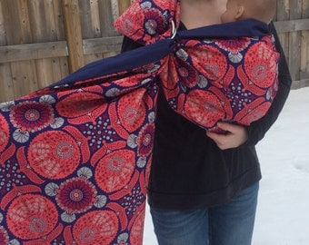 Flora- adjustable baby sling, ready to ship