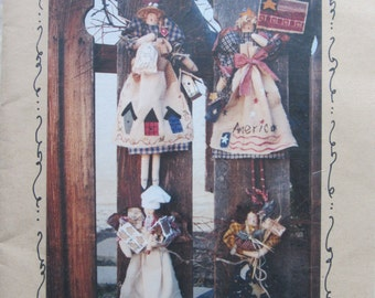Angels of All Seasons/Craft Sewing Pattern by Garden Gatherings/1996/13.5 in Dolls/Garden Angels