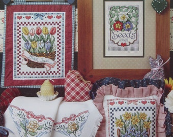 Country Garden/Counted Cross Stitch Patterns by Jeremiah Junction/1991/Multiple Designs