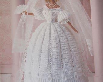 Crochet Collector Costume, vol. 10, by Paradise Publications, 1830 Romance Era Bride, 1994
