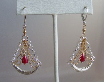 Exotic Valentine - Ruby in Silver and Gold