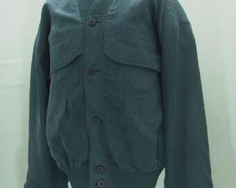 Vintage Men's Natural Silk Bomber Jacket\Men's silk Blouson\Gardeur Jacket\Men's Outer Jacket\Men's Casual Jacket\Fully Lined Jacket